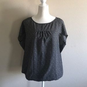 Loft black patterned top